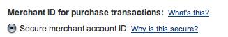 Secure Merchant ID