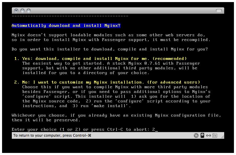 Nginx Advanced Install 1