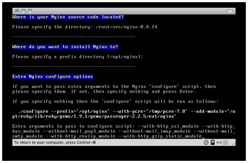 Nginx Advanced Install 2